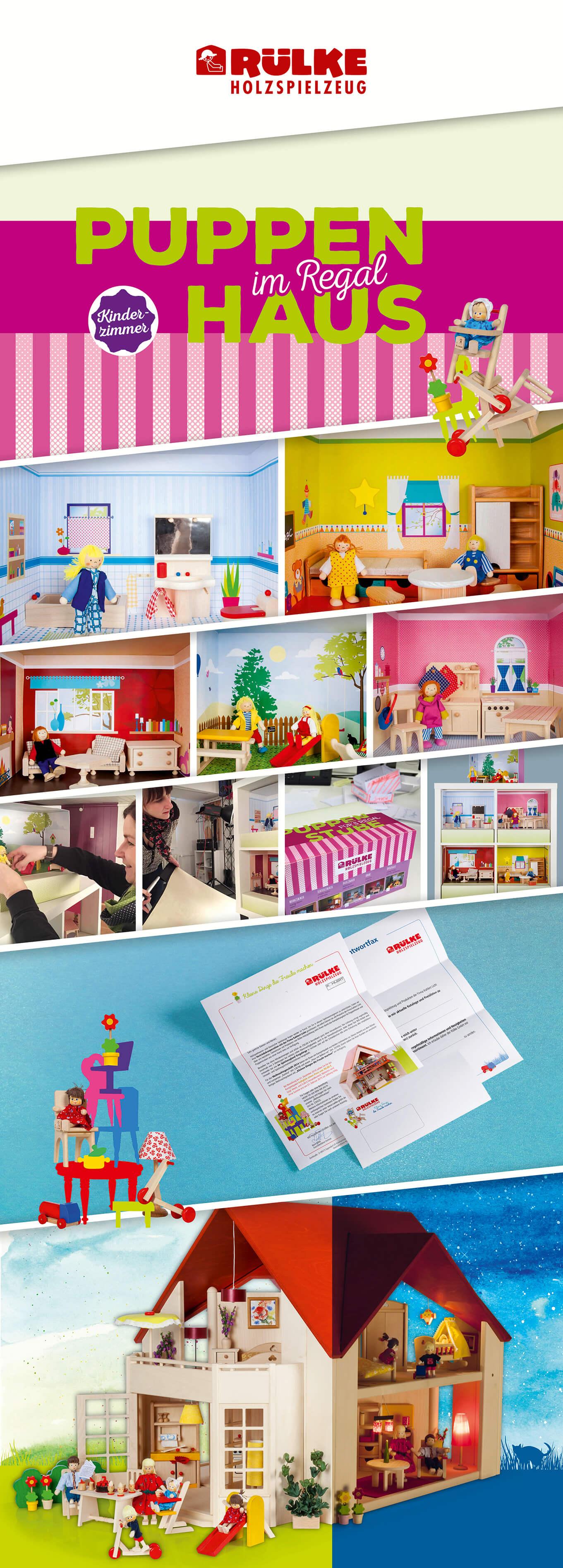 Puppenhaus im Regal – nachhaltiges Spielen garantiert